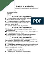 Ciclul de Viata Al Produselor