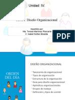 Unidad IV Diseño Organizacional
