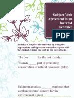 SV Agreement Inverted Sentence