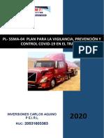 PLAN PARA LA VIGILANCIA, PREVENCIÓN Y CONTROL COVID-19 EN EL TRABAJO