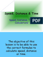 Calculating speed time and distance (3)