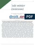 Code minier français du 13.04.2018