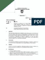 3.3 DIRECTIVA PERMANENTE 031 de 2012 MINDEFENSA