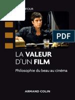 La valeur d'un film  Philosophie du beau au Cinéma - Eric Dufour