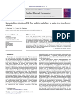 Numerical investigation of 3D flow and thermal effects in a disc-type transformer