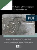 journée actualité archéologique en pays éduen  2019-