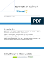 Retail Management of Walmart