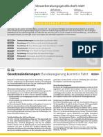 Steuerinformation Gewerbe Q4 2019 LHV-Steuerberatungsgesellschaft