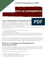 O que é o Planejamento de Experimentos ou DOE.pdf