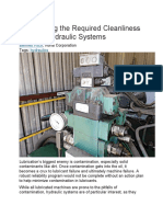 Determining the Required Cleanliness Level of Hydraulic Systems