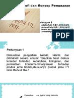 Filosofi dan Konsep Pemasaran (Kel.8)