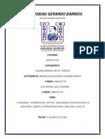 1 Congreso Virtual por la pandemia Covid-19  -Hidrologia-Reporte