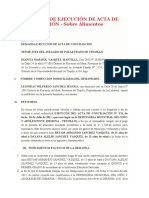 MODELO 2 DEMANDA DE EJECUCIÓN DE ACTA DE CONCILIACIÓN