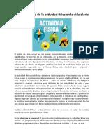 La importancia de la actividad física en la vida diaria