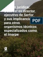 Opinión Legal de la SPDA sobre el cese del ex director ejecutivo del Serfor