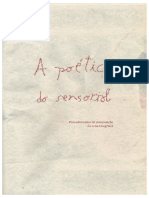 A poética do sensorial - procedimentos de composição da cena imagética