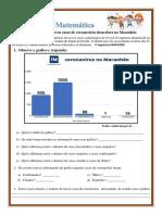 Matemática - Leitura e Interpretação de Gráficos Sobre Coronavírus COVID-19