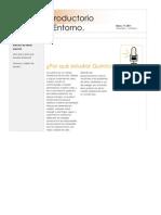 Modulo Introductorio química y Entorno