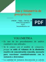 VOLUMETRIAS Y VOLUMETRIA DE PRECIPITACION