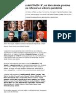 """""""El futuro después del COVID-19"""", un libro donde grandes intelectuales reflexionan sobre la pandemia - Infobae"""
