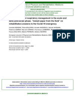 Rehabilitation and Respiratory Management in the Acute and Early Post-Acute Phase. Instant Paper From the Field on Rehabilitation Answers to the Covid-19 Emergency