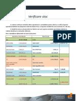 Procedura verificare stocuri - SeniorERP