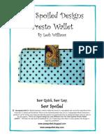 Sew Spoiled Presto Wallet