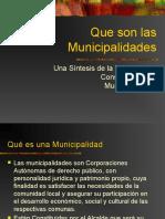 Que son las Municipalidades
