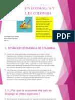 SITUACION ECONOMICA Y SOCIAL DE COLOMBIA