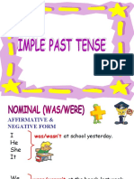 Power Point Simple Past Tense
