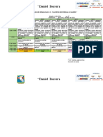 Planificador Semanal 18a22 mayo1D Prof Carlos Juarez