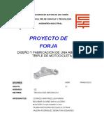 DISEÑO Y FABRICACIÓN DE UNA ABRAZADERA TRIPLE DE MOTOCICLETA (1)