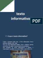 Texto informativo argumentativo panfleto