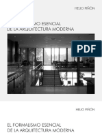 El formalismo esencial de la arquitectura moderna - Helio Piñon