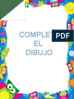 COMPLETA EL DIBUJO Y COLOREAR