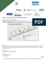 Capacitacion Programa para certificación internacional Primavera P6 Professional