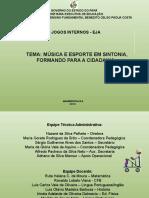 Apresentação do regulamento do II Jogos Internos