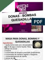 GUIA DE DONAS BOMBAS QUESADILLAS VARIEDADES NICE