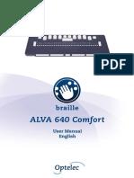 ALVA+640+Comfort+User+manual