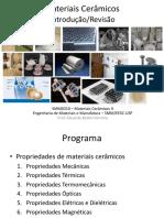 1. Materiais Cerâmicos II - Introdução