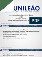 AULA 09 - NORMALIZAÇÃO (1FN)