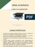 El informe Academico