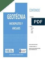 2º -Micropilotes y Anclajes -Prof. Antonio Arcos - Master MIGET 2018-19-
