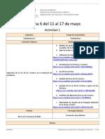 Actividad 1 Semana 6 Matemáticas II,  semana del 11  al 17 de mayo de 2020