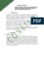 Terminos de referencia para para la contratación de empresa consultoras para la implementacion de programa de higiene y seguridad ocupacional