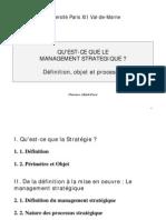 01 - Management stratégique