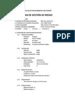 PLAN DE GESTIÓN DE RIESGO 2020