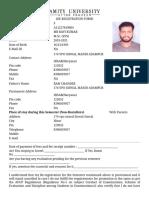 Ravi Kumar registration form