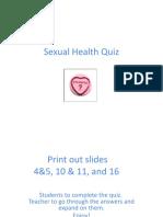 sexual health quiz powerpoint