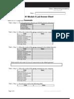 CCNA1 Module 6 Lab Answer Sheet